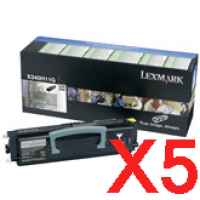 5 x Genuine Lexmark X342 X342N Toner Cartridge High Yield Return Program