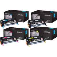 4 Pack Genuine Lexmark X560N Toner Cartridge Set High Yield