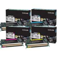 4 Pack Genuine Lexmark X748 Toner Cartridge Set High Yield Return Program