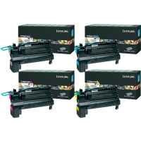 4 Pack Genuine Lexmark X792 Toner Cartridge Set Extra High Yield Return Program