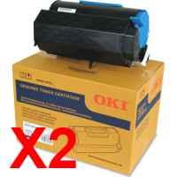 2 x Genuine OKI B731 MB770 Toner Cartridge High Yield