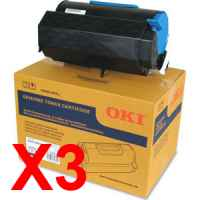 3 x Genuine OKI B731 MB770 Toner Cartridge High Yield