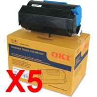 5 x Genuine OKI B731 MB770 Toner Cartridge High Yield