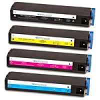 4 Pack Compatible OKI C9300 C9500 Toner Cartridge Set High Yield