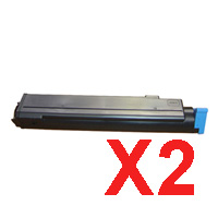 2 x Compatible OKI B410 B430 B440 MB470 MB480 Toner Cartridge