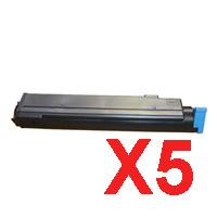5 x Compatible OKI B410 B430 B440 MB470 MB480 Toner Cartridge