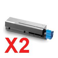 2 x Compatible OKI B411 B431 MB471 MB491 Toner Cartridge