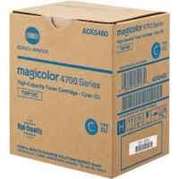 1 x Genuine Konica Minolta Magicolour 4750 Cyan Toner Cartridge TNP18C A0X5490