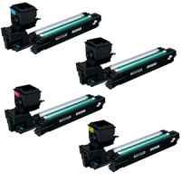 4 Pack Compatible Konica Minolta Magicolour 3730 Toner Cartridge Set