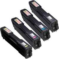 4 Pack Compatible Ricoh Aficio SP-C220 SP-C221 SP-C222 SP-C240 Toner Cartridge Set