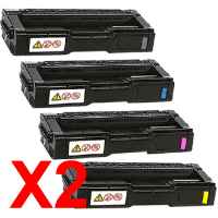 2 Lots of 4 Pack Compatible Ricoh Aficio SP-C231 SP-C232 SP-C242 SP-C312 SP-C320 Toner Cartridge Set