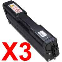 3 x Compatible Ricoh Aficio SPC252 SP-C252 Black Toner Cartridge High Yield TYPE-SPC252HB