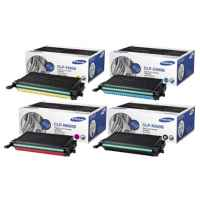 4 Pack Genuine Samsung CLP-610 CLP-660 CLX-6210 CLX-6240 Toner Cartridge Set ST907A ST886A ST925A ST960A