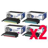 2 Lots of 4 Pack Genuine Samsung CLP-610 CLP-660 CLX-6210 CLX-6240 Toner Cartridge Set