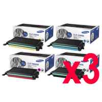 3 Lots of 4 Pack Genuine Samsung CLP-610 CLP-660 CLX-6210 CLX-6240 Toner Cartridge Set
