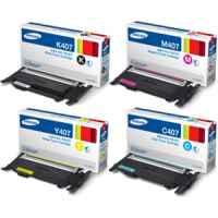 4 Pack Genuine Samsung CLP-320 CLP-325 CLX-3180 CLX-3185 Toner Cartridge Set