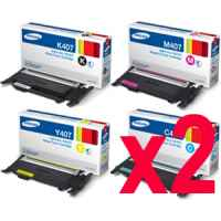 2 Lots of 4 Pack Genuine Samsung CLP-320 CLP-325 CLX-3180 CLX-3185 Toner Cartridge Set