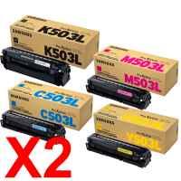 2 Lots of 4 Pack Genuine Samsung SL-C3010 SL-C3060 Toner Cartridge Set