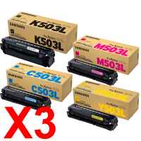 3 Lots of 4 Pack Genuine Samsung SL-C3010 SL-C3060 Toner Cartridge Set
