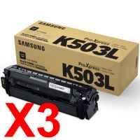 3 x Genuine Samsung SL-C3010 SL-C3060 Black Toner Cartridge CLT-K503L