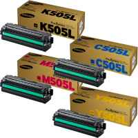 4 Pack Genuine Samsung SL-C2620 SL-C2670 SL-C2680 Toner Cartridge High Yield Set SU169A SU036A SU303A SU513A