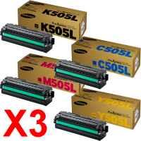 3 Lots of 4 Pack Genuine Samsung SL-C2620 SL-C2670 SL-C2680 Toner Cartridge High Yield Set SU169A SU036A SU303A SU513A