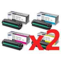 2 Lots of 4 Pack Genuine Samsung CLP-680 CLX-6260 Toner Cartridge High Yield Set