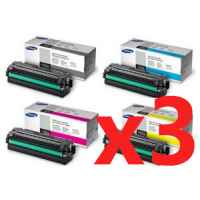 3 Lots of 4 Pack Genuine Samsung CLP-680 CLX-6260 Toner Cartridge High Yield Set