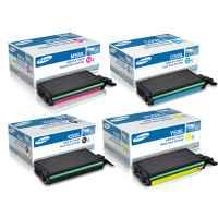 4 Pack Genuine Samsung CLP-620 CLP-670 CLX-6220 CLX-6250 Toner Cartridge Set