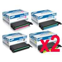 2 Lots of 4 Pack Genuine Samsung CLP-620 CLP-670 CLX-6220 CLX-6250 Toner Cartridge Set