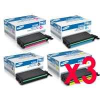 3 Lots of 4 Pack Genuine Samsung CLP-620 CLP-670 CLX-6220 CLX-6250 Toner Cartridge Set