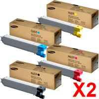 2 Lots of 4 Pack Genuine Samsung CLX-8640ND CLX-8650ND Toner Cartridge Set