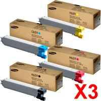 3 Lots of 4 Pack Genuine Samsung CLX-8640ND CLX-8650ND Toner Cartridge Set