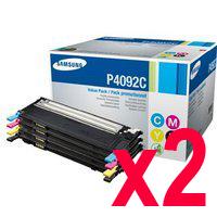 2 Lots of 4 Pack Genuine Samsung CLP-310 CLP-315 CLX-3170 CLX-3175 Toner Cartridge Set