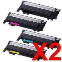 2 Lots of 4 Pack Compatible Samsung SL-C430 SL-C480 Toner Cartridge Set