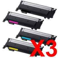 3 Lots of 4 Pack Compatible Samsung SL-C430 SL-C480 Toner Cartridge Set SU371A SU113A ST979A SU247A SU457A