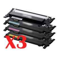 3 Lots of 4 Pack Compatible Samsung CLP-360 CLP-365 CLX-3300 CLX-3305 Toner Cartridge Set