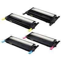 4 Pack Compatible Samsung CLP-320 CLP-325 CLX-3180 CLX-3185 Toner Cartridge Set