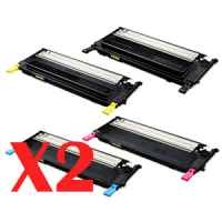 2 Lots of 4 Pack Compatible Samsung CLP-320 CLP-325 CLX-3180 CLX-3185 Toner Cartridge Set