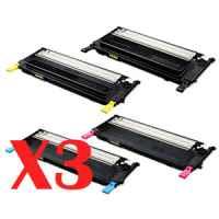 3 Lots of 4 Pack Compatible Samsung CLP-320 CLP-325 CLX-3180 CLX-3185 Toner Cartridge Set