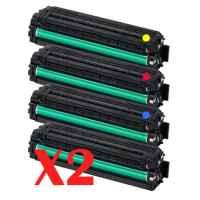 2 Lots of 4 Pack Compatible Samsung CLP-415 CLX-4170 CLX-4195 Toner Cartridge Set