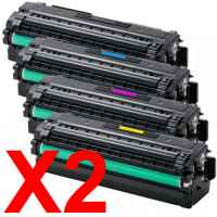 2 Lots of 4 Pack Compatible Samsung SL-C2620 SL-C2670 SL-C2680 Toner Cartridge Set High Yield