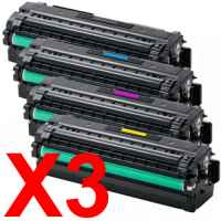 3 Lots of 4 Pack Compatible Samsung SL-C2620 SL-C2670 SL-C2680 Toner Cartridge Set High Yield