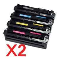 2 Lots of 4 Pack Compatible Samsung CLP-680 CLX-6260 Toner Cartridge Set High Yield