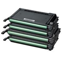 4 Pack Compatible Samsung CLP-620 CLP-670 CLX-6220 CLX-6250 Toner Cartridge Set