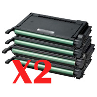 2 Lots of 4 Pack Compatible Samsung CLP-620 CLP-670 CLX-6220 CLX-6250 Toner Cartridge Set