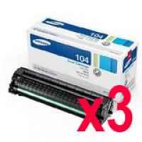 3 x Genuine Samsung ML-1660 ML-1665 ML-1860 ML-1865W SCX-3200 Toner Cartridge MLT-D104S