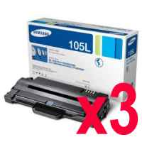 3 x Genuine Samsung ML-2540 ML-2580 ML-2545 SCX-4623 Toner Cartridge High Yield MLT-D105L