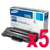 5 x Genuine Samsung ML-2540 ML-2580 ML-2545 SCX-4623 Toner Cartridge High Yield MLT-D105L