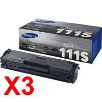 3 x Genuine Samsung SL-M2020 SL-M2020W SL-M2070 SL-M2070FW Toner Cartridge MLT-D111S